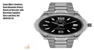 GentsMens-Stainless-Steel-Automatic-Rotary-Watch