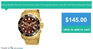 Invicta-80065-Mens-Pro-Diver-Scuba-Swiss-Chronograph-Brown-Dial-18k-Gold-Plated-Bracelet-Watch