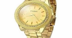New-Mens-Gold-Watches-Diamond-Dial-Gold-Steel-Analog-Quartz-Wrist-Watch-Best