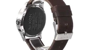 Nixon-A105-1113-sentry-brown-leather-silver-dial-mens-watch