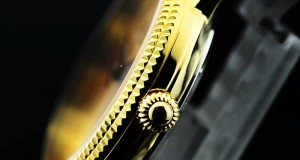 Swiss-Champagne-Dial-Black-Leather-Yellow-Gold-Watches