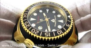 Swiss-Legend-Neptune-21848D-YG-01-NB-Gold-Tone-Steel-Silicone-Strap