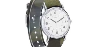 Timex-Unisex-T2P365-Weekender-Silver-Tone-Watch-with-Camo-Nylon-Band-Overview